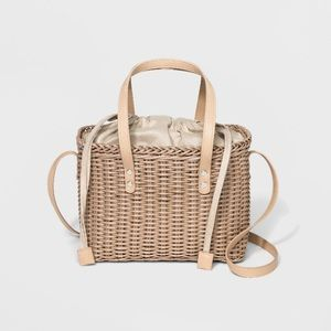 Who What Wear Basket Crossbody Bag